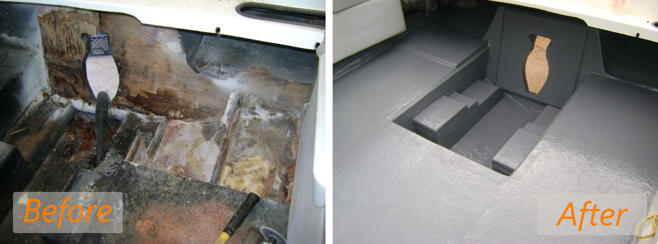 1988 chaparral transom before and after