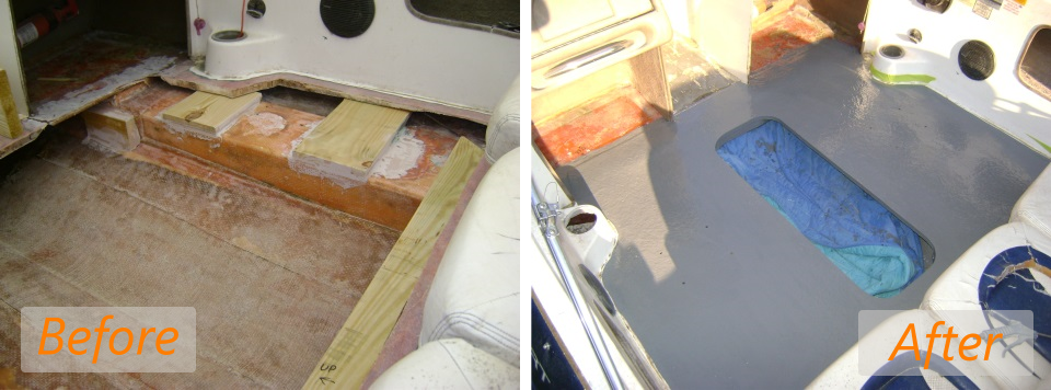 2001 nitro 175 floor repair before and after