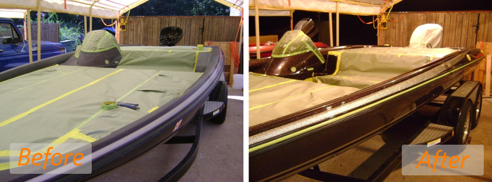 2004 stratos 201pro clear coat before and after