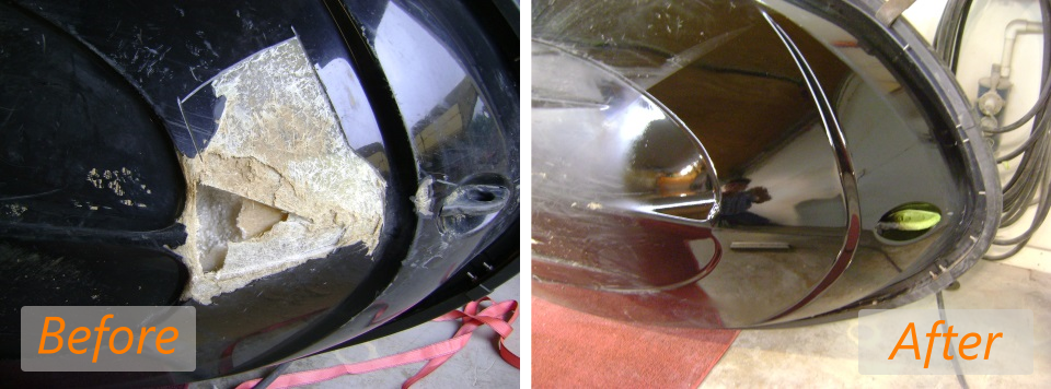 2007 yamaha vx110 large hole before and after