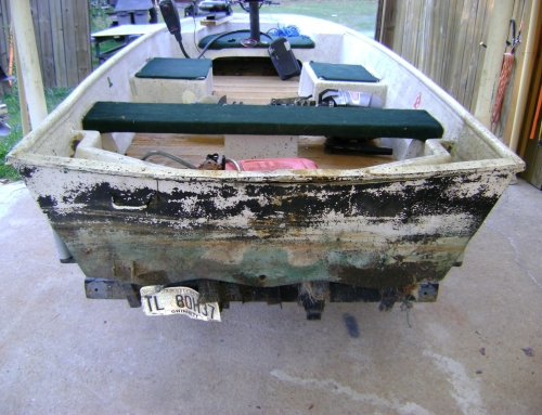14ft Fishing Boat Transom Repair