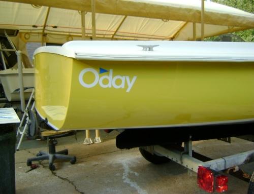 1973 Oday Sailboat Paint Job